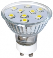 LED žárovka LED9 SMD 2835 GU10 2W-CW